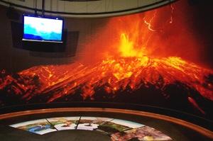噴火映像コーナー